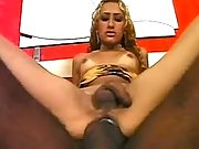 Blond tranny crazy fucks