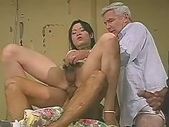 Young cute tranny seduces hot macho
