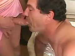 Shemales fuck man n jizz on his ass