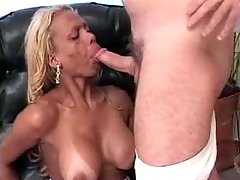 Cute tranny blowing professors dick