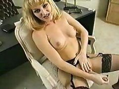 Tranny relaxing in office