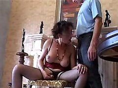 TS does blowjob n gets cock in ass